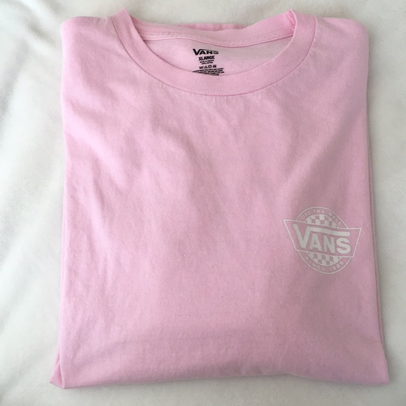 d9cb8e8e VANS Mens Pink Long Sleeves T-shirt. M_5bb2272a477368ba121bb4d9